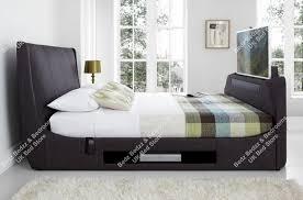 Kingsize Tv Bed Frame Kaydian Sommer 6ft Kingsize Slate Fabric Tv Bed By Kaydian