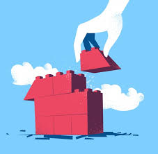 build a house free building a house background design vector free