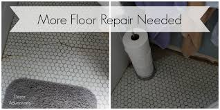 Floors And Decors Uncovering A Hex Tile Floor Before After Decor Adventures