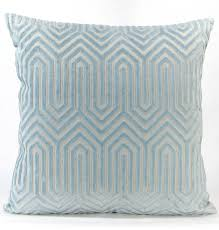 light blue accent pillows porcelain blue velvet euro sham light blue eileen k boyd designer