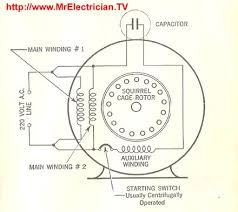 split phase single value capacitor electric motor dual voltage