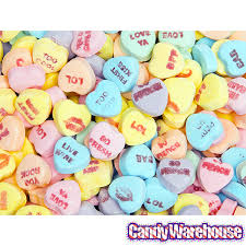 necco sweethearts sweethearts tiny conversation candy hearts sour flavors 1lb bag