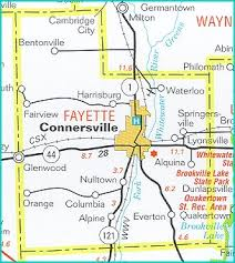 fayette county maps indiana fayette county every county