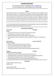 cover letter cashier resume cashier resume