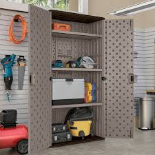 suncast wall storage cabinet platinum suncast mega tall utility storage cabinet target
