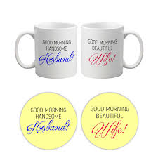 good morning handsome beautiful husband wife mugs giftsmate