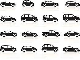 cartoon car black symbols cartoon cars stock vector art 166082473 istock