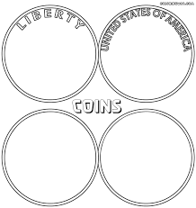 coins coloring page coloring home