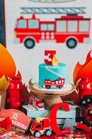 kara u0027s party ideas rustic firefighter birthday party kara u0027s