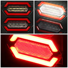 jeep back lights 17 jeep wrangler jk pair of led bar black housing red lens brake