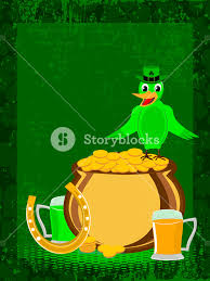 st s day ornaments with bird a hat vector