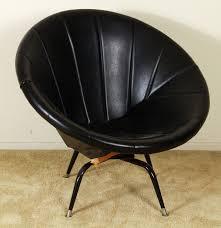 mid century modern swivel saucer chair ebth