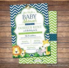 safari baby shower invitation unique jungle themed printable diy