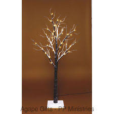 Lighted Branch Tree Lighted Branch Brown With Snow 48 Warm White Led Lights 48 Inches