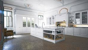 White Kitchen Cabinets With Glass Doors Kitchen White Island Gray Countertop Airmaxtn