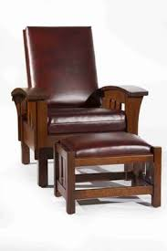 Bow Arm Morris Chair Plans Hand Made Arts And Crafts Bow Arm Morris Chair And Ottoman By