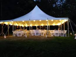 wedding tent rental prices 30x30 clear top tent with cafe lights installed in lines