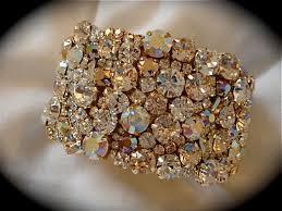 rose gold crystal bracelet images Rose gold crystal wedding cuff bracelet the crystal rose bridal jpg