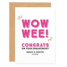 engagement congratulations card wow wee personalised engagement congratulations card project