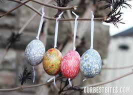 blown easter eggs how to make blown egg ornaments our best bites