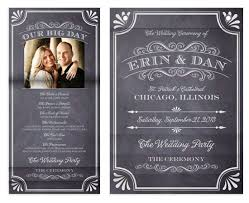 chalkboard wedding program minibook cards a chalkboard marriage wedding program at minted