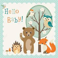 woodland creatures baby shower baby shower design with woodland animals royalty free cliparts