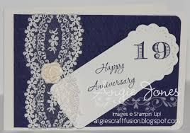 19th wedding anniversary gift angie s craft fusion 19th wedding anniversary card