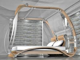 futuristic beds unique modern canopy bed the holland romantic touch modern
