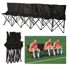 Portable Sports Bench Portable Folding Chairs 6 Seater Sports Bench Soccer Baseball