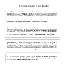 bureau des stages conclusion d un rapport de stage rédaction et exemples
