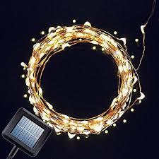 solar power led lights 100 bulb string solar powered string light amir 100 leds starry string lights