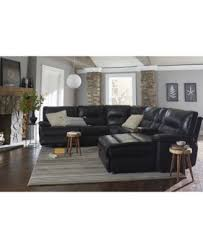 reclining sectional sofas with chaise garraway 6 pc leather sectional sofa with chaise 1 power