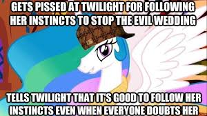 Scumbag Steve Hat Meme - 170121 a canterlot wedding broken aesop hat meme princess