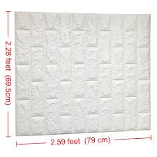 2 6 u0027 x 2 3 u0027 peel and stick 3d wall panels white brick wallpaper