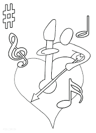 music note coloring pages print for kindergarten top sheets