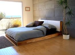 Teak Wood Bed Designs Home Design Unstained Teak Wood Low Profile Bed Frame With White