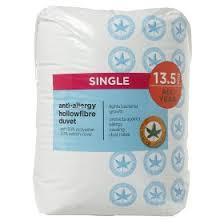 Duvet 13 5 Tog George Home Anti Allergy 13 5 Tog Single Duvet Asda Groceries