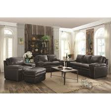 charcoal leather match sofa