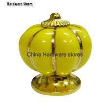 luxury gold ceramic cupboard knobs wardrobe handle kitchen knob