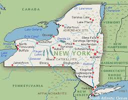 map for new york map of new york major tourist attractions maps