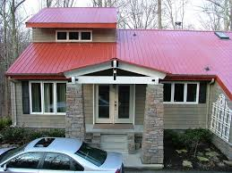 Metal House Designs Country Red Metal Roof Exterior Of House New Red Metal Roof