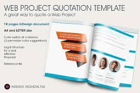 quotation template web project quotation template brochure templates creative market
