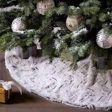 white tree skirt faux fur tree skirt white swirl west elm christmas