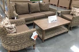 Patio Furniture At Costco - studio by brown jordan 6 piece deep seating set costco weekender