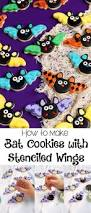 bat cookies with stenciled wings bats sugar cookies and decorating