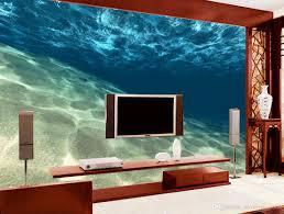 3d murals home decor blue the underwater world 3d mural wallpaper custom