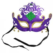 mardi gras mask plastic glitter scroll mardi gras mask purple 77007