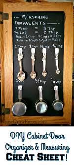 Measuring Cabinet Doors Diy Cabinet Door Organizer Measuring Sheet Reuse Grow Enjoy