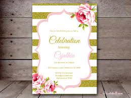 pink and gold baby shower invitations baby shower invitations printabell create
