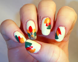 thanksgiving nail designs or by turkey nails 1 diykidshouses